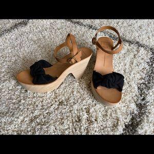 Dolce Vita wood heel sandal, Size 8.5